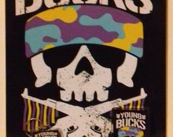 Young Bucks-Bullet Club Gift Set: Keyring, Fridge Magnet, A4 Print/Poster, FREE UK P+P
