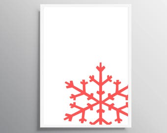 Printable snoweflake, Printable Wall art Christmas, Instant Download , Digital Download Art, Christmas Decor Printable Art Christmas