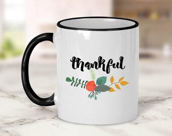 Thankful Mug // Floral
