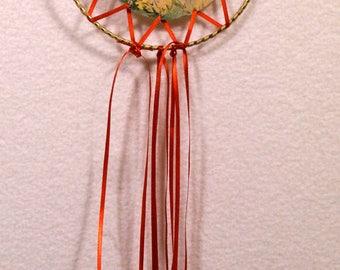 Red Ribbon Hummmingbird Dreamcatcher