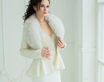 Bridal jacket   Kamilla   Wedding coat   Winter wedding coat   Unique jacket