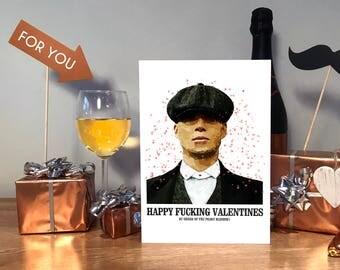 Peaky Blinders Card, Peaky Blinders Gift, Valentines Card, Peaky Blinders Valentines Card, Tommy Shelby, Peaky Blinder, Peaky Blinder Card