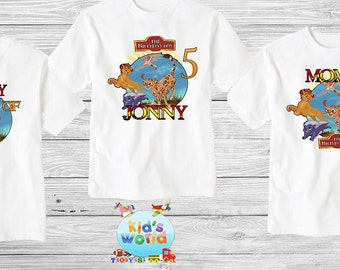 Lion King mask Family birthday shirt, Custom shirt ,personalized Lion King Shirt , family shirt,birthday shirt,kids custom birthday shirt d8
