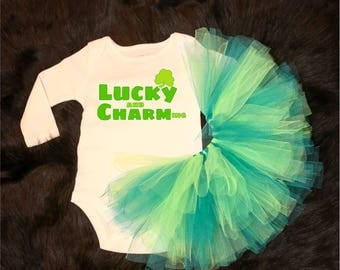 Lucky (and) Charm(ing) -  onesie / Tutu