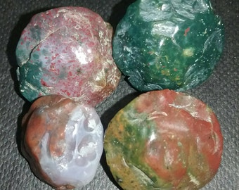 Fancy Jasper Hand Knapped Beads