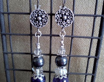 "Earrings ""The round stones"""