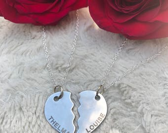 Thelma & Louise Necklace Set - Friendship Necklace - BFF - Partner in Crime Necklace
