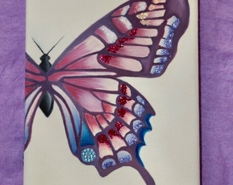 Butterfly oil on canvas.