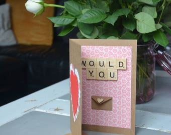 Proposal Valentines day card