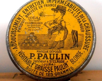 Box of shoe Polish P.PAULIN