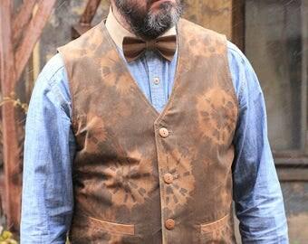 Old'n'Gold 01 men's suede waistcoat