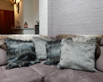 Big faux/fake fur pillow cases in 3 colors | pillow not included