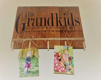 The Grandkids Photo Display Wall Hanging