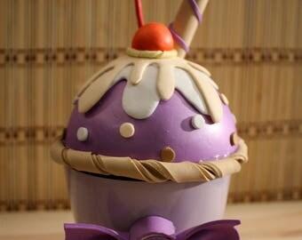 Purple Cupcake Box