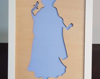 Snow White - Framed Princess Silhouette | Wall Hanging | Disney | Shelf Art | Room Decor | Display Art | Girls Decoration | Toddler Present
