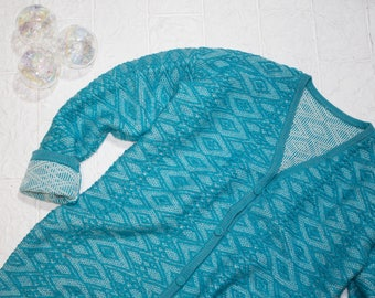 Woolen long cardigan