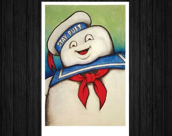 Ghostbusters Stay-puft Marshmallow Man Monster Portrait Art Print