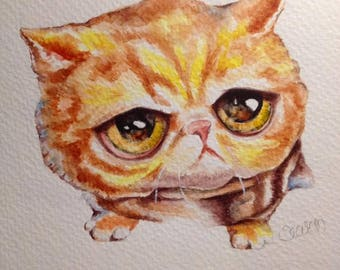 Hand Painted, Watercolor, Greeting Card, OOAK, Original Artwork....Baby Critters
