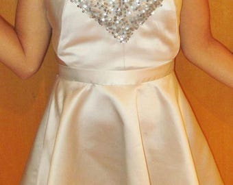 Silver Sequin Party Dress With Open Strappy Back, S