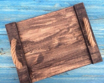 Tray Breakfast in Bed Table Decorative Tray Wood Serving wooden Gift