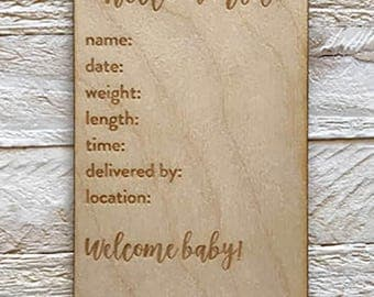 Birth Details Plate Milestone Marker for The Milestone Growth Chart Ruler Board