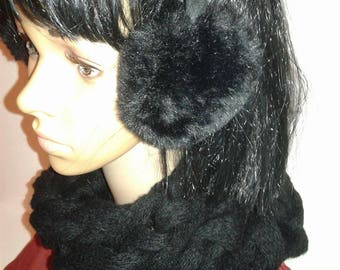 Braided cowl collar scarf