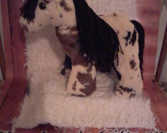 Cuddly Stuffed Paint Horse