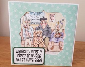 Fun Wrinklies Hand Made Birthday Card