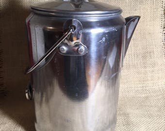 Aluminum Coffee Pot / Percolator with Glass Top