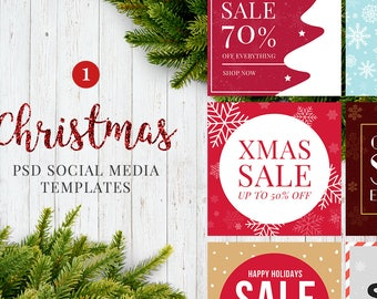 20 Christmas Social Media Posts Templates