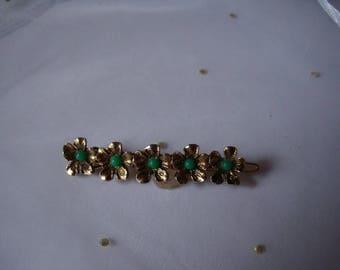 Art-deco: small brooch/collar brooch from the 1930s-brass design, handmade-true vintage