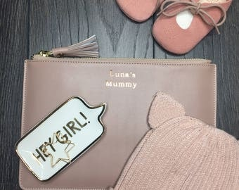 Personalised Mummy - Taupe Signature Pouch