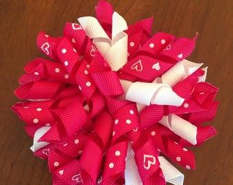 Hot Pink Valentine Corker Bow