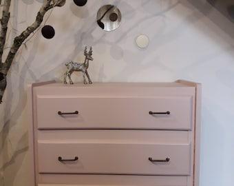 Pink makeover vintage Dresser