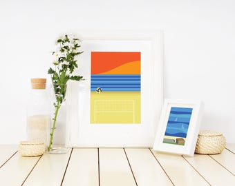 Manly Beach Volleyball Sunset Print