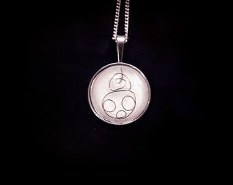 Pendant necklace minimalist Star Wars BB8
