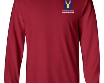 "196th Light Infantry Brigade ""Vietnam"" Long-Sleeve Cotton Shirt-8718"