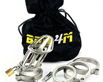 BON4M Male Chastity Device Solid Stainless Steel