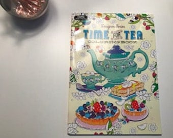 Adult Coloring Book-Time for Tea