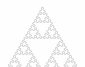 Mathematical Wall Art. 6th Iteration Sierpinski Triangle Space-Filling-Curve