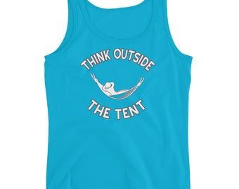 Hammocking Shirt - Funny Camping Shirt - Hammock Gear Trekking Hiking Backpacking Festival - Think Outside The Tent - Ladies' Tank Top