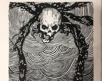 Spider skull print