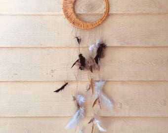 Yellow and Feather Dream Catcher