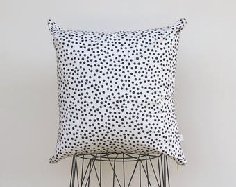 Pillow cover with polka dots