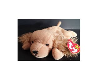 Ty Beanie Baby Spunky The Cocker Spaniel 1997 5th Generation ver 5