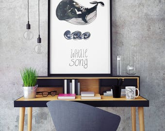 Whale Song -  Art print (3 different sizes)