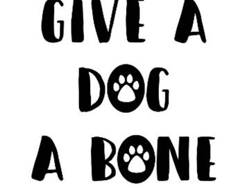 Give A Dog A Bone Treat Jar Vinyl Decal Sticker