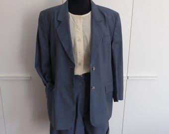 1980's blazer+shorts suit