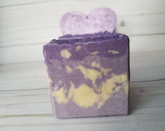 Mi Amor - Love Spell Soap - Huge valentines day soap gift for her - Palm Free - Vegan Friendly BIG BAR of Soap- Shea Butter and Coconut soap