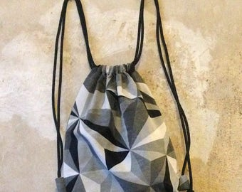 Bag/backpack/puff bag/Sneak bag/Carry case/grey/white/black/jacquard/pattern/abstract/festival/party/Stable